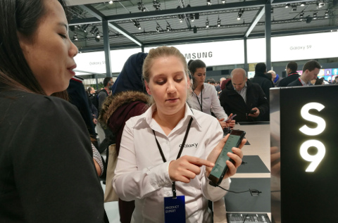 Stand de Samsung en el Mobile World Congress 2018.